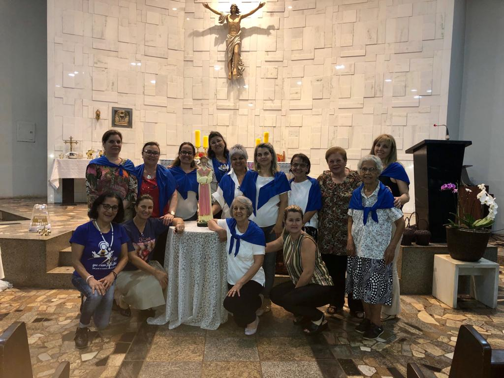 Mães Orantes da Paróquia São Carlos em Dourados.