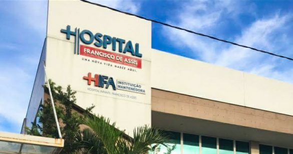 PRIMEIRO HOSPITAL A RECEBER NOSSA SENHORA DE LA SALETTE DO ES